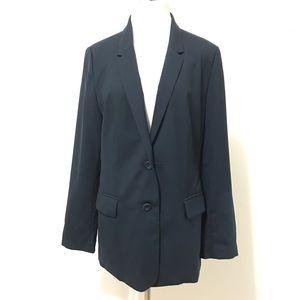 J.Jill Blazer Sports Jacket Size 12 Blue Navy Work